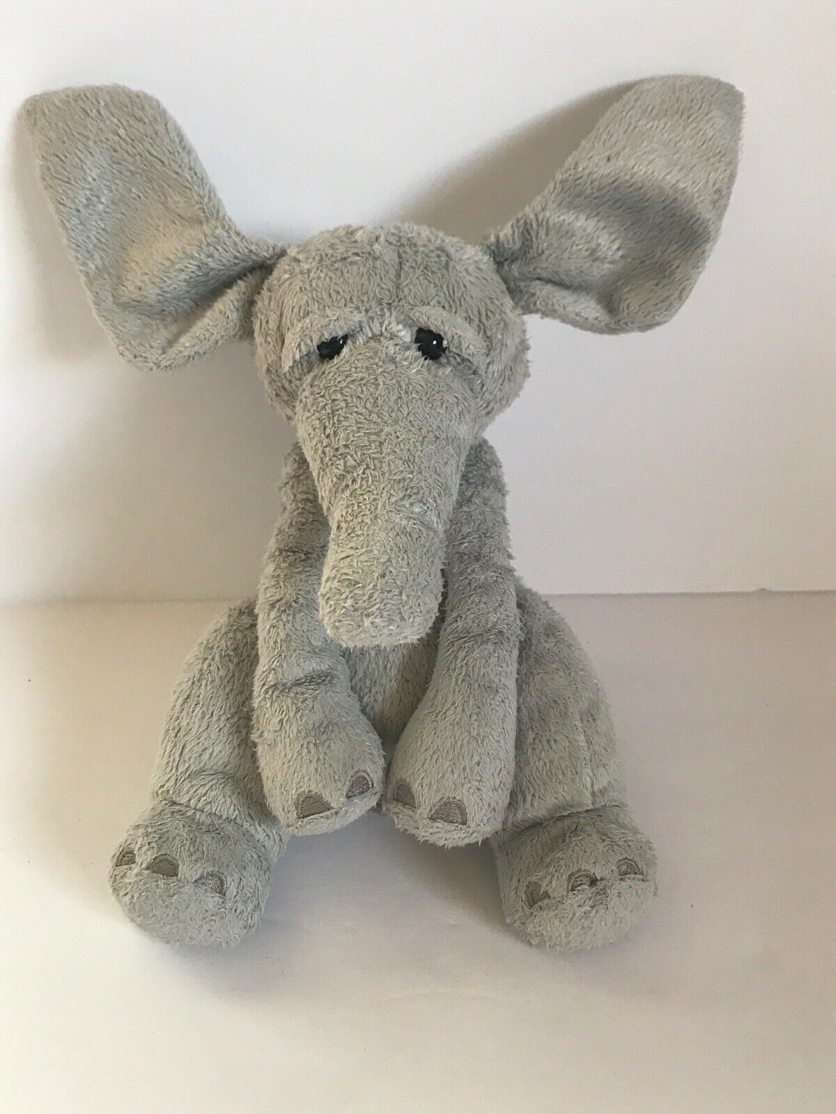 "Primary image for MANHATTAN TOY WANDA RAGTAILS ELEPHANT  Gray Stuffed Plush  7.5"" Small"