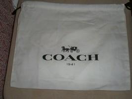 New COACH Drawstring Dust Bag Cover  12 x 10 Black Horse & Carriage Logo - $8.90