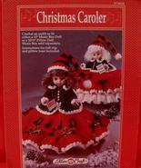 "Vintage CHRISTMAS CAROLER DOLL Crochet Patterns 13"" MUSIC BOX DOLL PILLO... - $6.95"