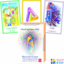 HEALING CARDS THE CONSPIRACY DECK AND BOOK SET CHUCK SPEZZANO AGM NEW - $39.00