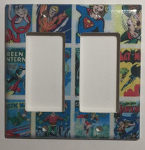 DC Superhero Comics USPS Stamps Light Switch Power wall Cover Plate Home decor image 4