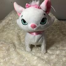 Disney Baby White Plush Aristocats Marie Cat Sounds plush stuffed animal... - $13.99