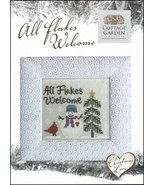 Christmas Love All Flakes Welcome cross stitch chart Cottage Garden Samp... - $6.30