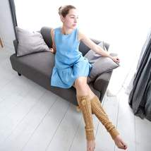 (Woman) Elegant sleeveless dress (blue) - $45.00