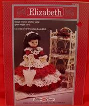 "Vintage ELIZABETH DOLL Crochet Patterns 11 1/2"" DOLL DRESS SKIRT SLIP - $6.95"
