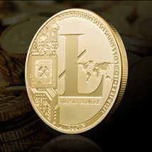 Gold Plated Commemorative Litecoin Collectible Golden Iron Miner Coin - One Item image 3
