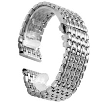 YISUYA Silver 20mm Stainless Steel Silver Tone Nine Bead Solid links Watch Band  - $63.85