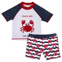 kavkas Baby Toddler Boy Swim Set Kid Swimsuit Boy Two Pieces Swimwear Ra... - $20.67