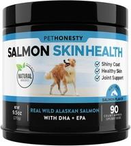 Omega 3 Fish Oil All-Natural Wild Alaskan Salmon Chews Healthy Skin Coat Itching - $24.74