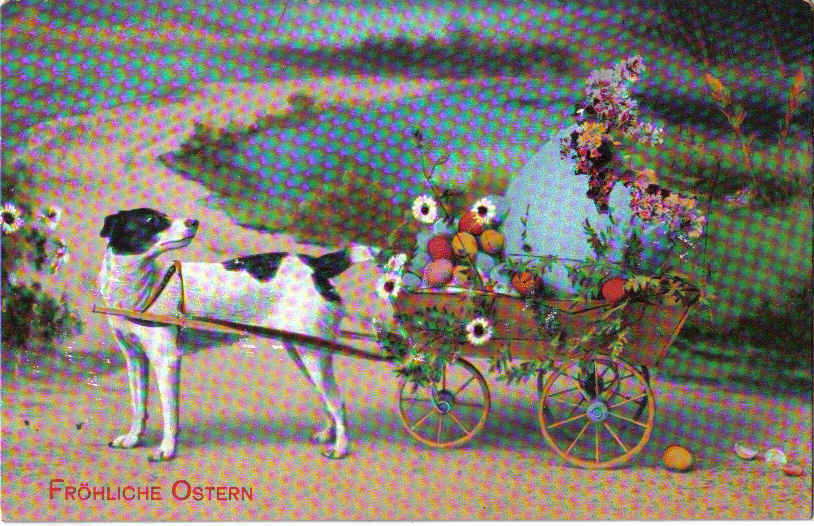 Easter pcard frohliche ostern on front