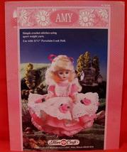 "Vintage AMY DOLL Crochet Patterns 11 1/2"" DOLL DRESS SKIRT PINAFORE PANT... - $6.95"