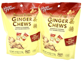 Prince of Peace Ginger Chews Candy with Peanut Butter 4oz ( Pack of 2 ) - $9.75