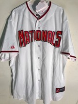 Majestic MLB Jersey Washington Nationals Team White sz 3X - $14.84