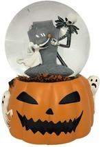 Disney Nightmare Before Christmas Jack and Zero Snowmotion Musical WaterGlobe - - $49.99
