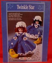 "Vintage CHRISTMAS TWINKLE STAR DOLL Crochet Patterns 13"" MUSIC BOX DOLL ... - $6.95"