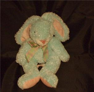 COMMONWEALTH TOY & NOVELTY 1999 AQUA BLUE EASTER RABBIT