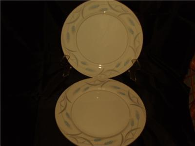"VALMONT CHINA  ROYAL WHEAT DINNER PLATES 10 1/4""  (2)"