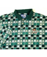 Detroit Pistons Starter Green Plaid Golf Polo Shirt NBA Sz 4XLT EUC - $39.99