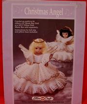 "Vintage CHRISTMAS ANGEL DOLL Crochet Patterns 13"" MUSIC BOX DOLL PILLOW ... - $6.95"