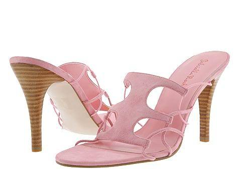 Primary image for Pink Suede SZ 9.5 Gabriella Rocha Womens Shoes Dance Dress Slide Heels Pumps