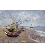 Decoration Poster.Fishing boats.Van Gogh art painting.Home Room dorm dec... - $10.89+