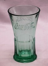 Old Vintage Advertising Coca Cola Coke Flared Flat Tumbler by Libbey Gre... - $14.84