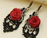 Halloween Rose Earrings,Earrings Trending, Halloween Danger Earring,Gift for her