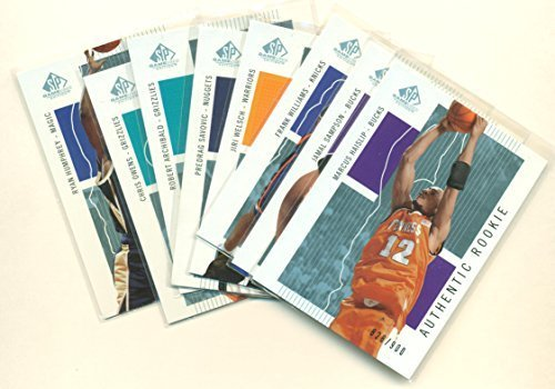 2002-03 SP Game Used Lot (8 Cards) All Limited to 900 - Basketball Cards