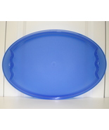 Tupperware Impressions Blue Oval Serving Platter Tray New - $5.99