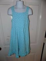 FRESH PRODUCE Blue Flower Print Sundress Size M Girl's EUC - $20.28