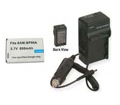 Battery + Charger For Samsung BP90A IA-BP90A HMX-E10BP - $18.46