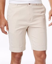 NEW MENS TOMMY HILFIGER CLASSIC FIT FLAT FRONT PINCORD STRIPE COTTON SHO... - $24.99