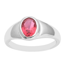 Oval Cut Solitaire Pink Tourmaline 925 Sterling Silver Engagement Weddin... - $31.53