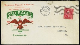 Red Eagle Line Dry Goods Richmond, VA 5/27/1913 Advertising Cover - Stua... - $65.00