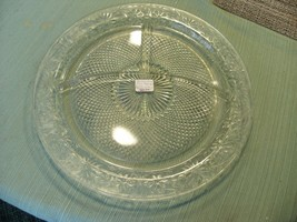 17#   Vintage Indiana Depression Glass Divided  Plate Daisy Pattern 10 3... - $19.79