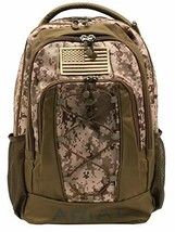 Ariat Unisex Sport Patriot Backpack w/Bungy Cord Front Medium Brown/Camo... - $68.02