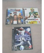 Lot of 3 WWE SmackDown vs. Raw 2008 Featuring ECW Madden 09 The BIGS Game - $24.99