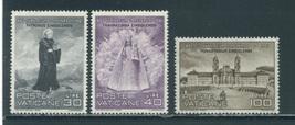 1961 St Meinrad Set of 3 Vatican Postage Stamps Catalog Number 298-300 MNH