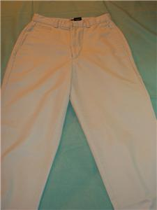 WOMEN DOCKERS LIGHT KHAKI FLAT FRONT PANTS S SMALL