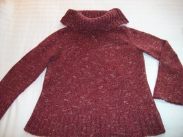 WOMEN CHARTER CLUB LONG SLEEVE SWEATER L LARGE RED - $6.00