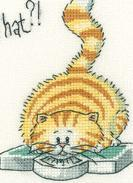 What? Cat's Rule CHART ONLY cross stitch chart Heritage Crafts