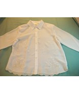 WOMEN K.C. STUDIO CAREER DRESS SHIRT SIZE 12 IVORY NWT - $11.99