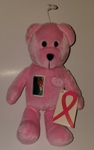 NWT Breast Cancer Aware Bear Pink Plush USPS Stamp Stuffed Animal Toy - $12.82