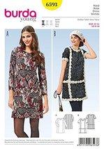 Burda Ladies Easy Sewing Pattern 6593 Simple Panelled Dresses - $11.73
