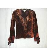 Sheer Velour Bronze Victorian / Goth Top size M - $10.00