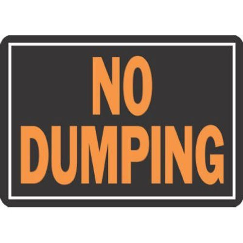 HY-KO PROD Office Storage Accessory 10x14 No Dumping Sign 833