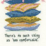 Too Comfortable Cat's Rule CHART ONLY cross stitch chart Heritage Crafts