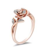ENCHANTED DISNEY BELLE 1/10 CT. TW. DIAMOND ROSE RING engagement ring in... - £59.80 GBP