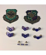 Military USAF Staff Sergeant Insignia Pin & Patch Lot Airlift Command Tech  - $19.79