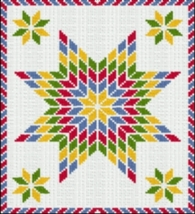 Latch Hook Rug Pattern Chart: Star Of Bethlehem - EMAIL2u - $5.75